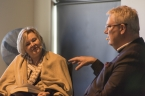 Lucy Palmer interviews Dr Simon Longstaff about his book Everyday Ethics. Photo by Greg Jackson.