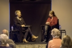 Sue Turnbull interviews Meg Keneally about The Monsarrat Series. Photo by Greg Jackson.