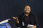 Petina Gappah talks about her new book The Book of Memory. Photo by Greg Jackson.