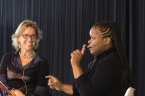 Lisa Forrest interviews Petina Gappah talks about her new book The Book of Memory. Photo by Greg Jackson.